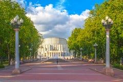 2015年6月24日:歌剧剧院在米斯克,白俄罗斯 免版税库存图片