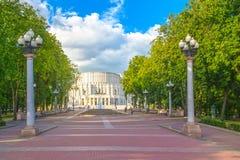 2015年6月24日:歌剧剧院在米斯克,白俄罗斯 库存图片