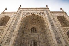 2014年11月02日:泰姬陵的墙壁的细节在阿格拉, 库存图片