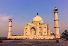 2014年11月02日:泰姬陵的Sideview在阿格拉,印度 免版税图库摄影
