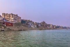 2014年10月31日:瓦腊纳西,印度全景  免版税库存照片