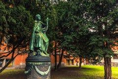2016年12月05日:雕象在一个庭院里在哥本哈根,丹麦 库存照片