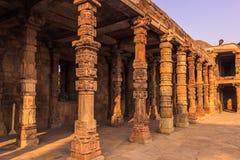 2014年10月27日:顾特卜塔的废墟在新德里,印度 免版税库存照片