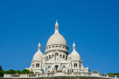 巴黎- 2012年9月12日:9月12日的basilique du sacre coeur在巴黎,法国 Basilique du Sacre Coeur是 免版税库存照片