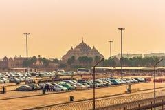 2014年10月28日:Akshardham印度寺庙在新德里, Indi 免版税库存图片