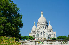 巴黎- 2012年9月12日:Basilique du 9月12日的Sacre Coeur在巴黎,法国 Basilique du Sacre Coeur是 库存照片
