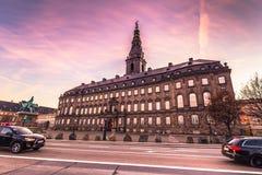 2016年12月02日:Christianborg宫殿在哥本哈根,丹麦 免版税图库摄影