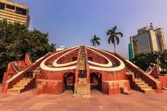 2014年10月27日:Jantar Mantar Obervatory在新德里,印度 图库摄影