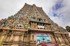 2014年11月13日:Meenakshi阿曼印度寺庙在马杜赖, 免版税库存图片