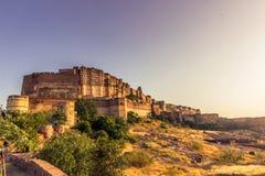 2014年11月05日:Mehrangarh堡垒在乔德普尔城,印度 库存照片