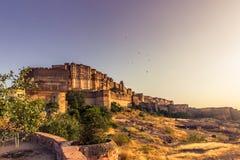 2014年11月05日:Mehrangarh堡垒在乔德普尔城,印度 库存图片