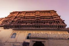 2014年11月05日:Mehrangarh堡垒的门面在乔德普尔城, Ind 库存图片