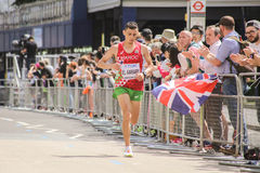 8月6日` 17 -伦敦世界田径锦标赛马拉松:El Aaraby 库存照片