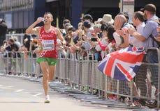 8月6日` 17 -伦敦世界田径锦标赛马拉松:El Aaraby 免版税图库摄影