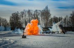 2月26日2017假日Maslenitsa在Borodino 库存照片