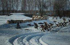 2月26日2017假日Maslenitsa在Borodino 库存图片