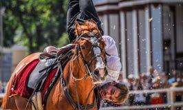 2015年7月25日 克里姆林宫骑术学校的礼仪介绍VDNH的在莫斯科 免版税库存图片