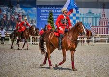 2015年7月25日 克里姆林宫骑术学校的礼仪介绍VDNH的在莫斯科 库存图片