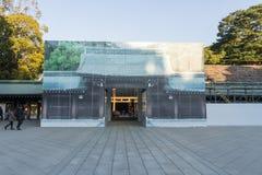 2017年2月15日-冬天季节:明治神宫在东京是维护的神道圣地 库存图片