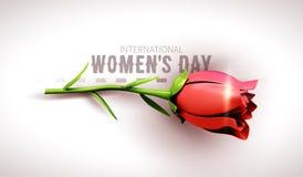 3月8日 国际妇女` s天 日愉快的母亲s 库存照片