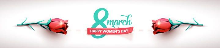 3月8日 国际妇女` s天 日愉快的母亲s 向量例证