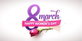 3月8日 国际妇女` s天 日愉快的母亲s 库存图片