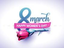 3月8日 国际妇女` s天 日愉快的母亲s 图库摄影
