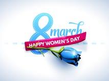 3月8日 国际妇女` s天 日愉快的母亲s 库存例证