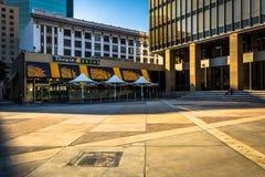 2月17日-圣地亚哥:在霍顿广场的Panera面包 图库摄影