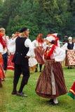 6月24日-圣约翰的天或者施洗约翰节Jaanipäev在爱沙尼亚 免版税库存图片