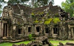 2016年10月08日-暹粒,柬埔寨:Banteay Kdei寺庙,佛教寺庙在吴哥,柬埔寨,亚洲 免版税库存照片