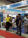 7月27日2016马来西亚食物&饮料国际贸易公平在KLCC 免版税库存照片