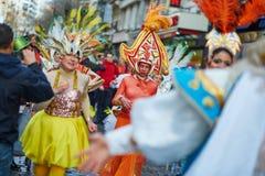 2016年2月7日-巴黎:传统2月狂欢节在巴黎,法国 免版税图库摄影