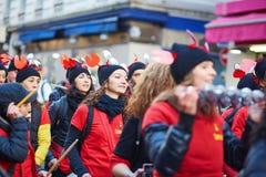 2016年2月7日-巴黎:传统2月狂欢节在巴黎,法国 免版税库存图片
