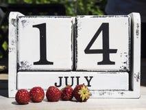 7月14日 免版税库存图片