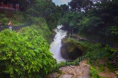 2014年8月20日- Devi ` s秋天瀑布在博克拉,尼泊尔 免版税库存图片