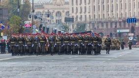 2016年8月24日 Kyiv,乌克兰 Ukrainia的军事游行 库存照片