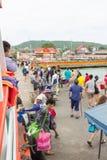 12月17日2014年Larn海岛芭达亚,泰国 免版税库存照片