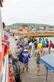 12月17日2014年Larn海岛芭达亚,泰国 图库摄影