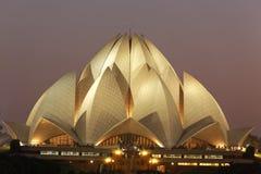9月25,2011的莲花寺庙:德里 也称Lotus的Bahai教堂Temple 库存图片