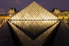 巴黎- 4月14 :罗浮宫 库存照片