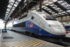巴黎- 9月04 :TGV高速法国人火车 免版税图库摄影