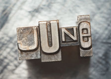 6月 免版税库存照片