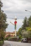 10月11,2016;Collodi,意大利;在世界的最高的木木偶奇遇记在Collodi,托斯卡纳 库存照片