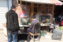 2014年3月- Shandongtou,青岛,中国 免版税库存照片