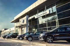 16 11月- Vinnitsa,乌克兰 大众VW陈列室  免版税库存图片