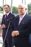 1月Guz和Andrzej Duda,共和国的总统办公室的候选人波兰 免版税图库摄影