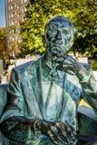 1月Karski雕象在华沙,波兰 库存照片