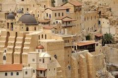 3月Saba女修道院大厦,以色列。 免版税库存照片