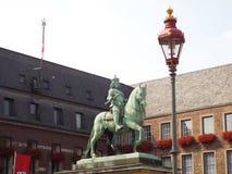 1月Wellem骑马者雕象 免版税图库摄影